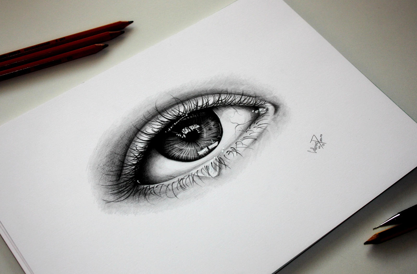 Easy Pencil Drawing For Beginners furthermore Jack Frost likewise Bewitching And Beautiful Black Ink Drawings To Bedazzle You additionally Cloud Tattoos further Wolf Fantasy Drawing 565619191. on realistic drawings of an eye
