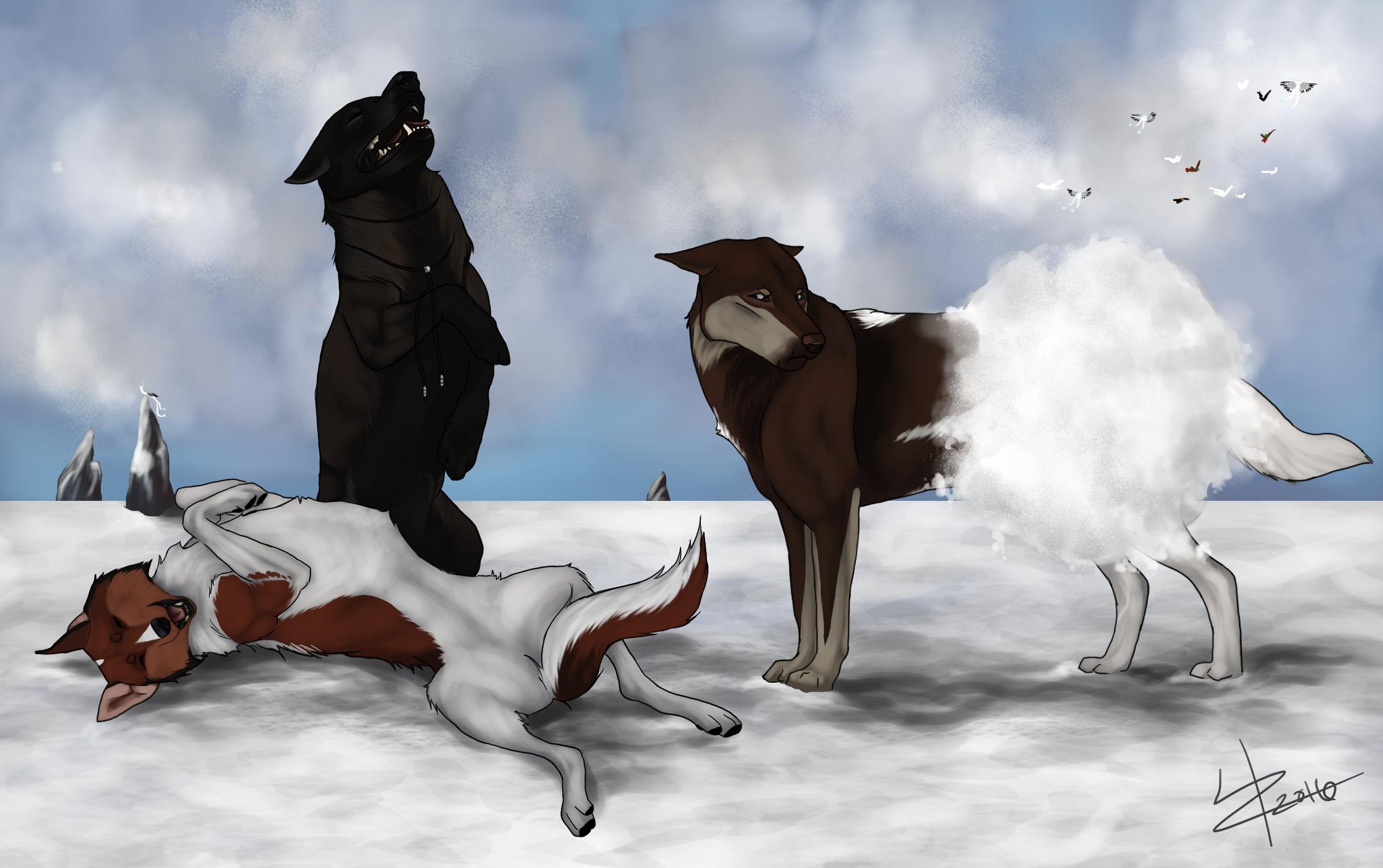Snowbutt by LizzardDraws