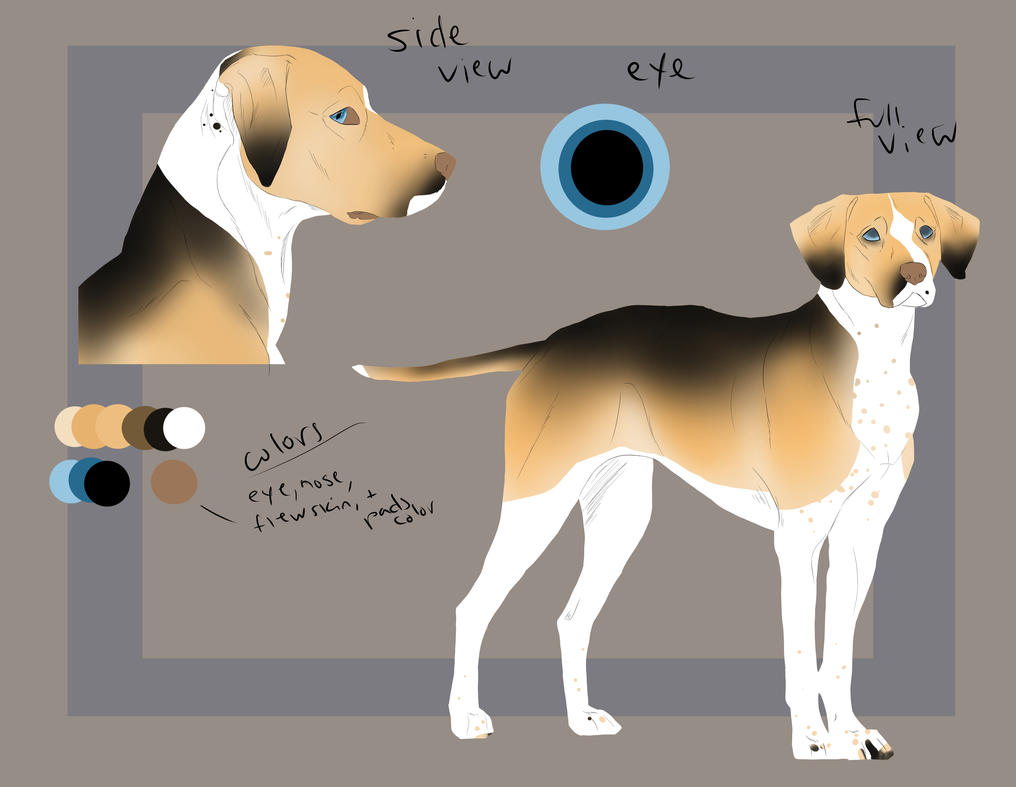 Character Design Dog : Dog character design ref sheet for sale by