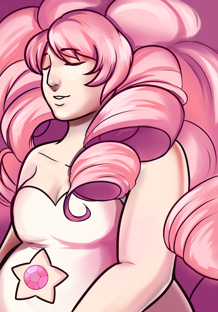 Been meaning to draw fanart of Rose for a while, I'm such a fan of her She's really so beautiful quq That and I love pink LOL I drew this for relaxation Art (c) jellophish Rose Quartz (c) Rebecca S...