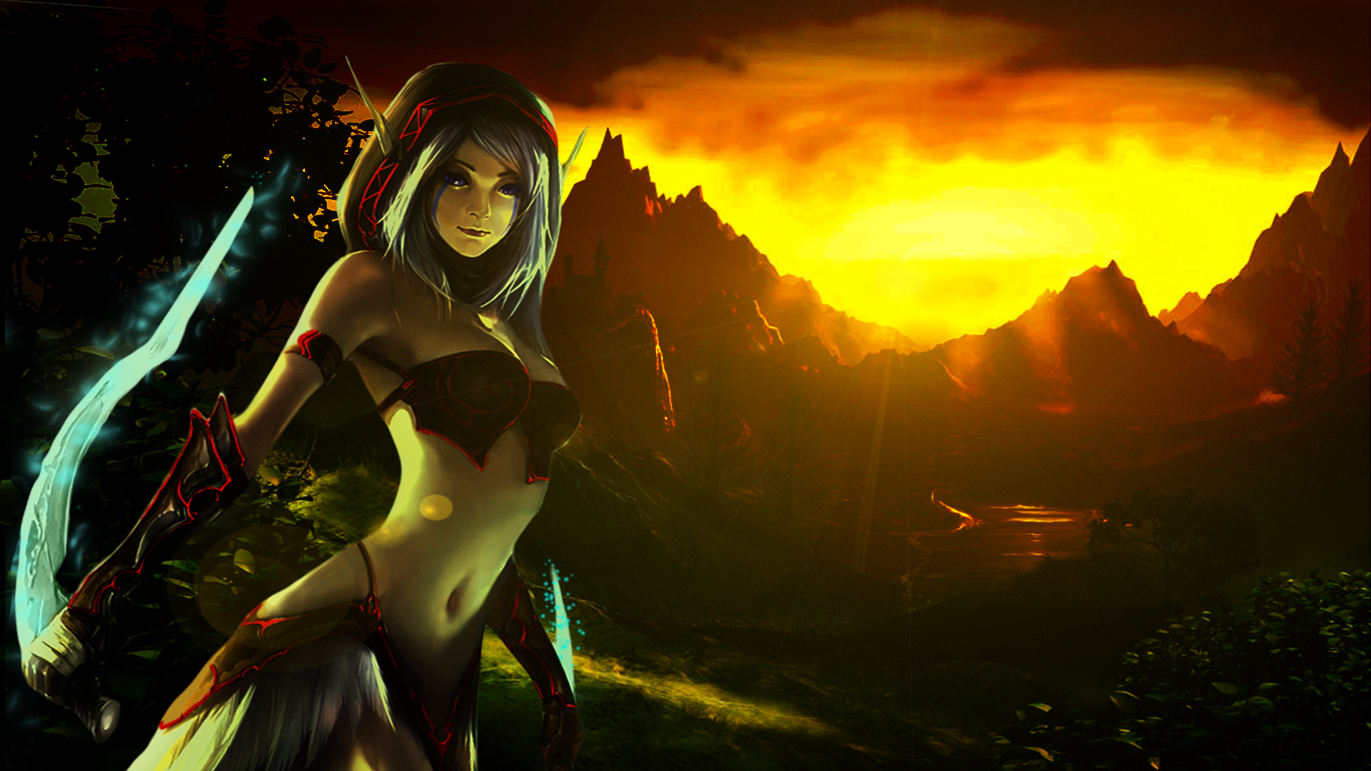 Night Elf Rogue widescreen wallpaper WOW by Runnetty on ...