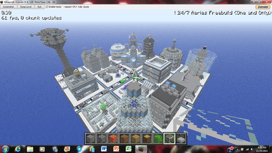 Minecraft FutureCity 1 by irHAXOR