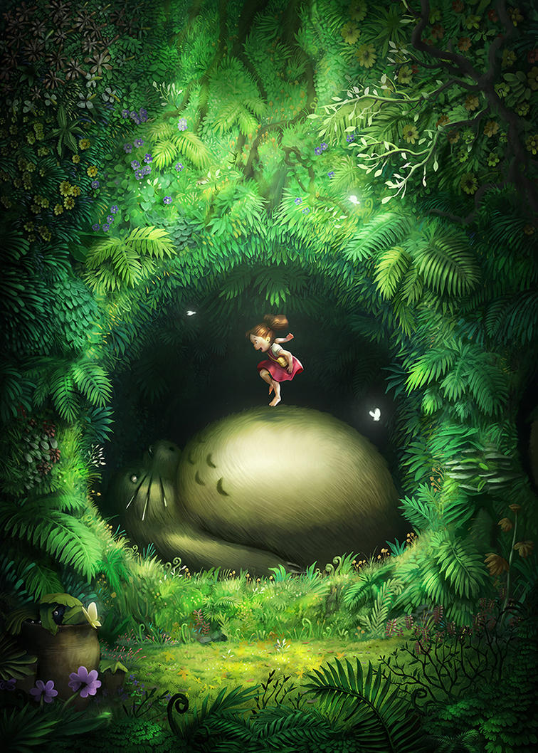 Totoro Chamber by lordeeas