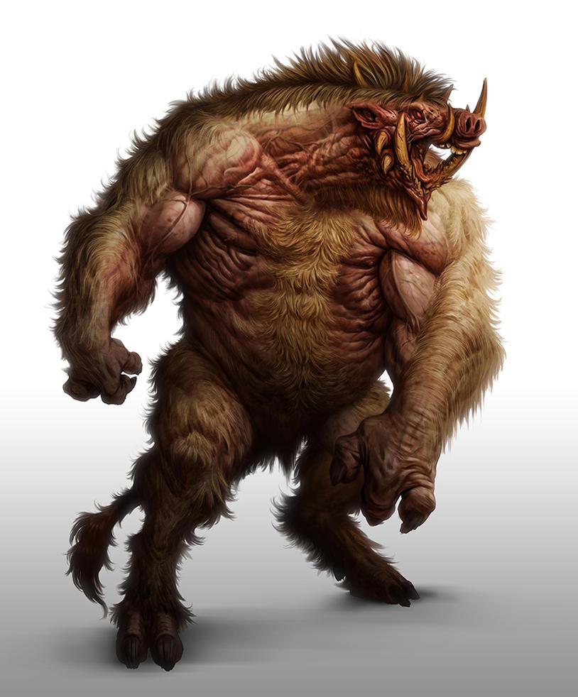 Boar Demon by lordeeas