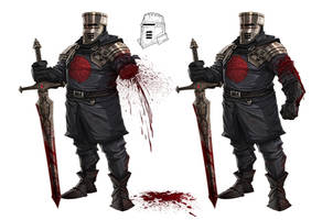 Sir Schwarz - Black Knight by lordeeas