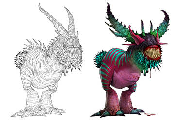 The Magenta Beast by lordeeas