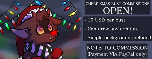 LIMITED CHRISTMAS BUST COMMISSIONS OPEN! (CHEAP)