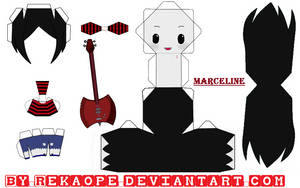 Marceline - Adventure Time [PAPERCRAFT] by RekaOpe