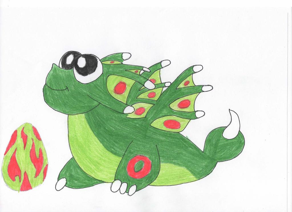 Poison Dragon Baby by FireCacodemon