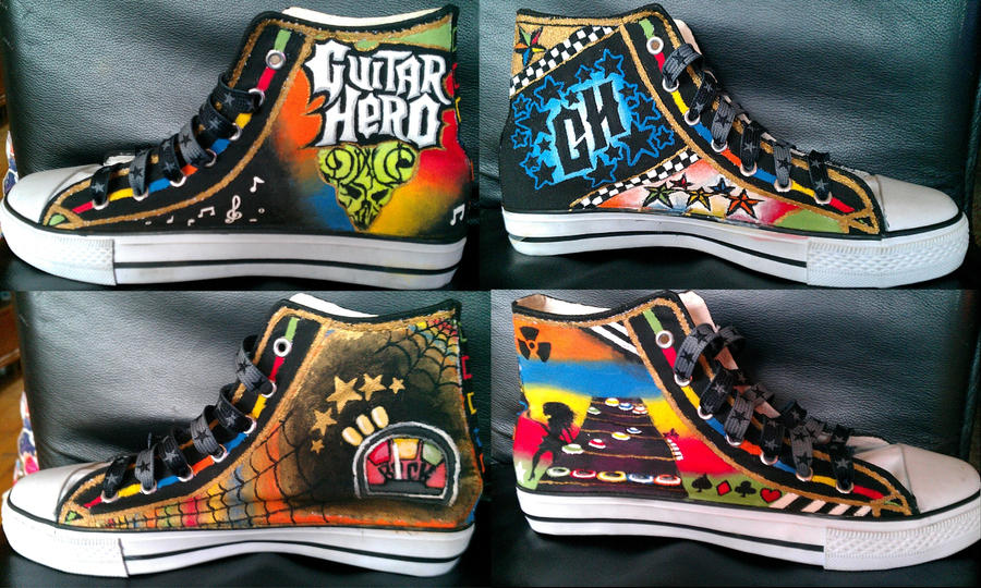 Guitar Hero Converse by tikipoesje