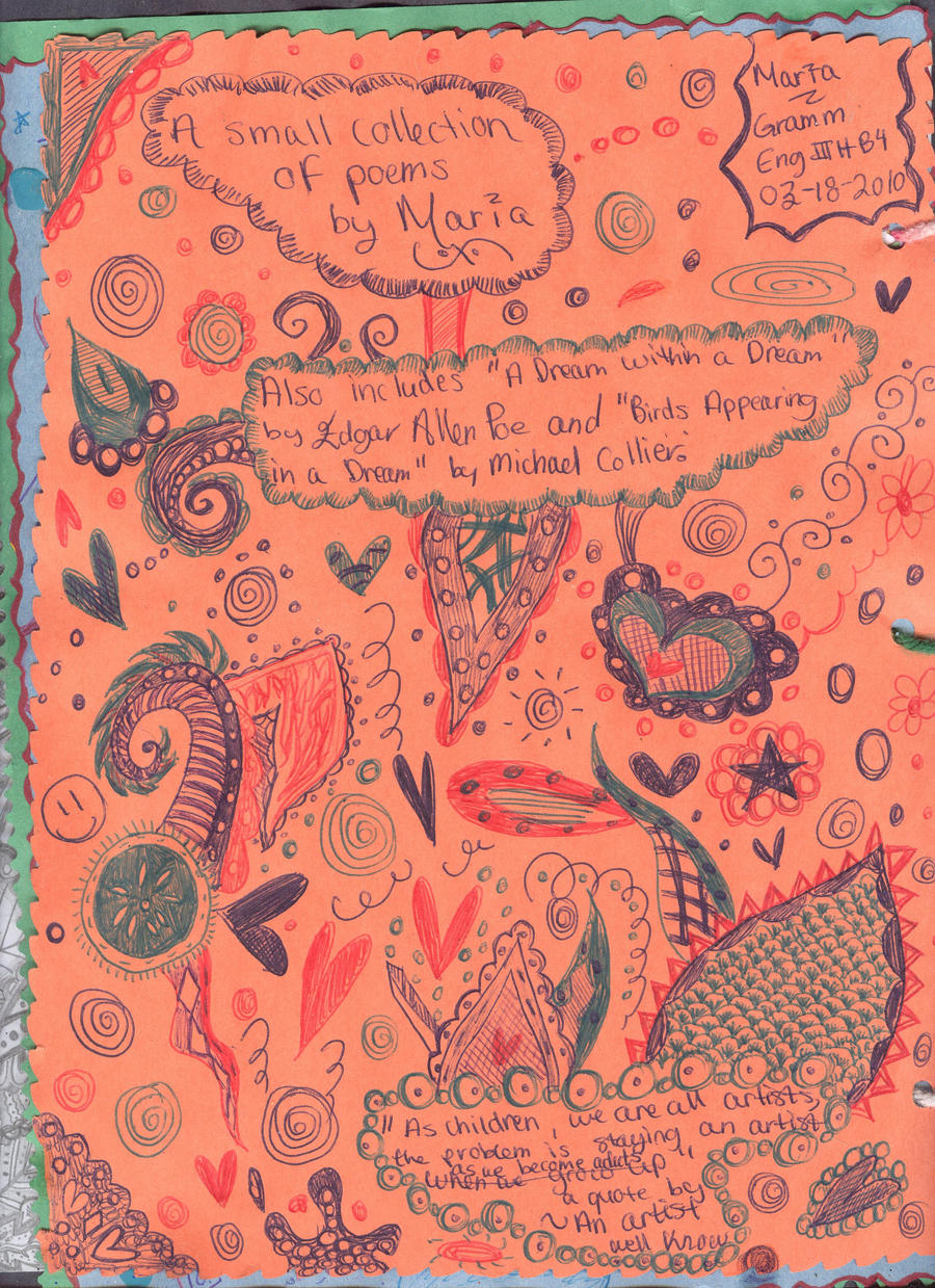 Poetry Book Cover Drawings : Back of a poem book cover by thesleepydrummer on deviantart
