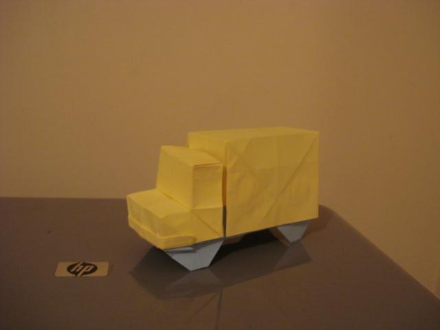 Origami Truck By MoonchildLuiza