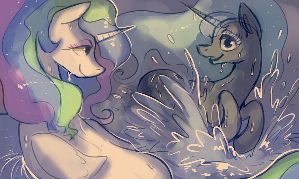 Water horses by StaticDragon1