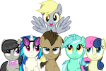 The Background Six - Making Derpy's Day