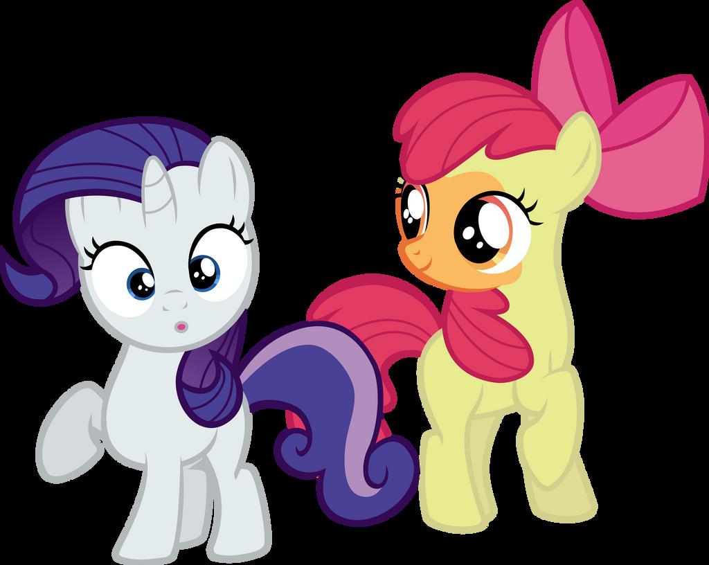 Applebloom and Sweetie Belle - DIP by Firestorm-CAN