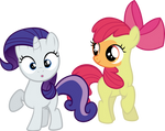 Applebloom and Sweetie Belle - DIP