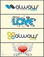 Always Love logos by saltshaker911