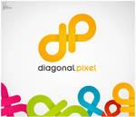 Diagonal Pixel Logo