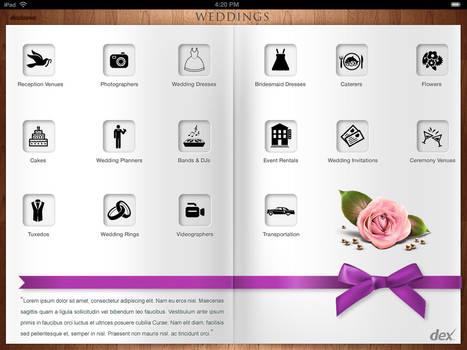 Weddings Ipad App