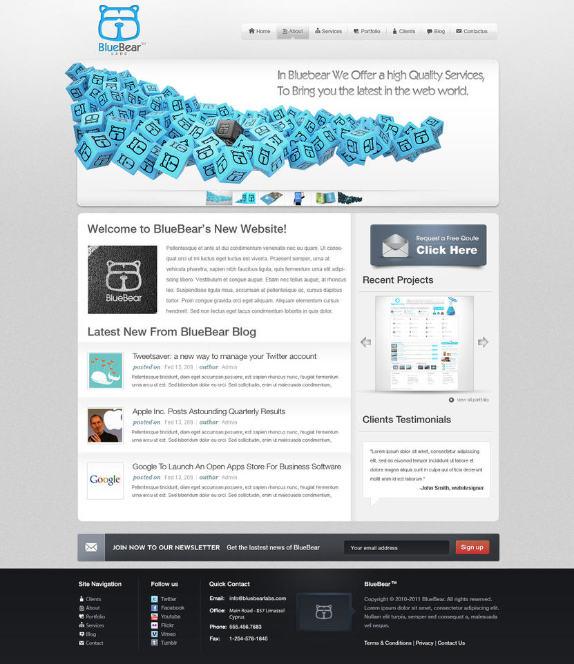blue bear labs by saltshaker911 d34v1ve Creatively Inspired Web Interface Designs
