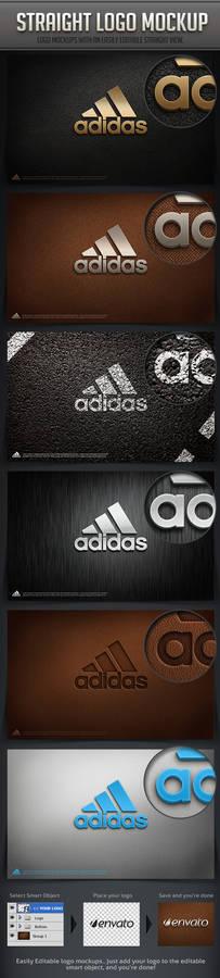Straight Logo mockup