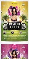 Summer Beach Club Flyer Template by saltshaker911