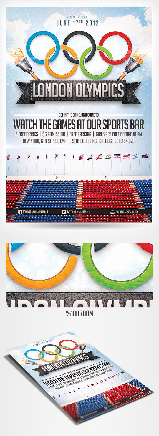 2012 Olympics sports flyer by saltshaker911