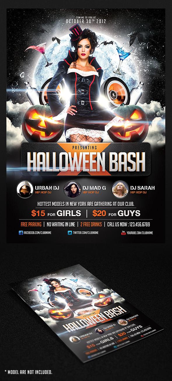 halloween bash flyer template by saltshaker911 on deviantart