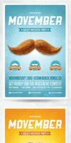 Movember Retro Party Flyer Template