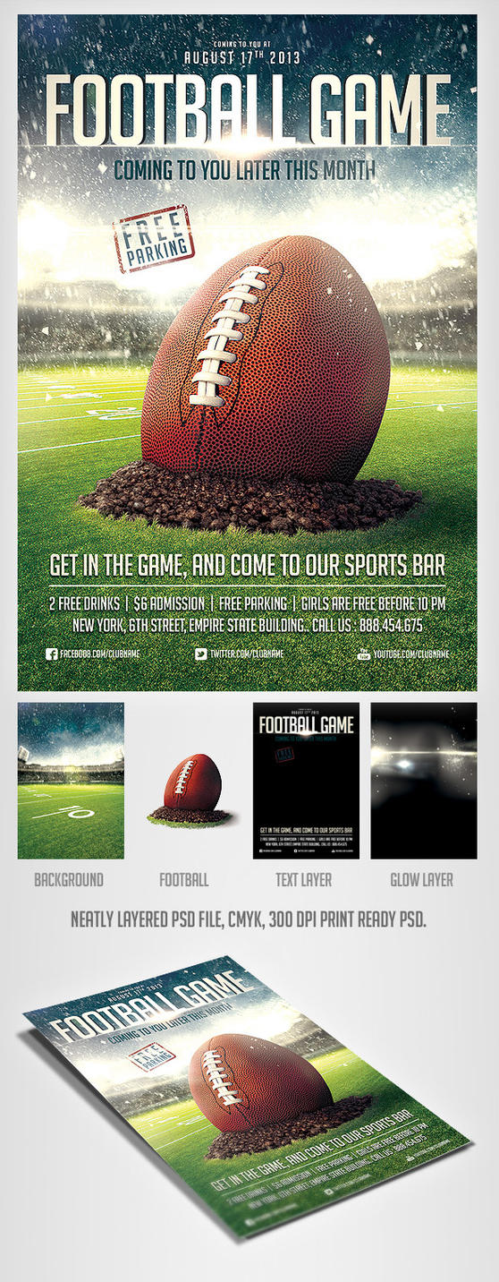 football game flyer template by saltshaker911 on deviantart. Black Bedroom Furniture Sets. Home Design Ideas
