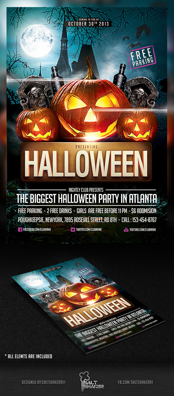 Halloween Party Flyer Template By Saltshaker911 On Deviantart