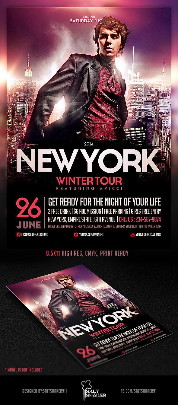 NYC Electro House Dj Flyer Template by saltshaker911 on DeviantArt