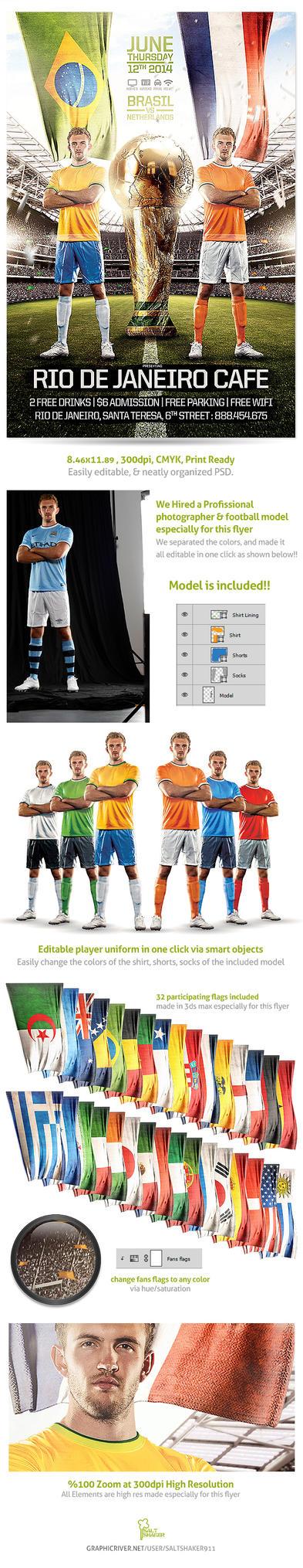 Brazil world Cup 2014  Soccer Flyer by saltshaker911