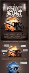 Realistic Football helmet Mockup by saltshaker911