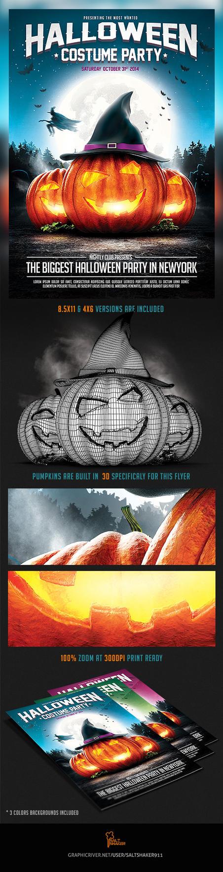 Halloween Party Flyer v.2 by saltshaker911