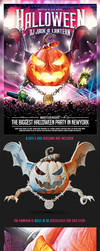 Halloween Dj Party Flyer by saltshaker911