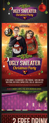 Ugly Christmas Sweater Party Flyer by saltshaker911