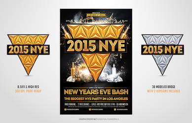 2015 New Years Eve NYE Flyer Template