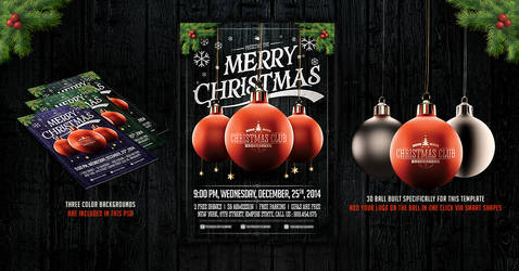 Christmas Party Flyer Template v.2