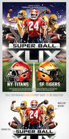 Superbowl Football Party Flyer Template