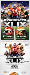 Superbowl Football Party Flyer Template by saltshaker911