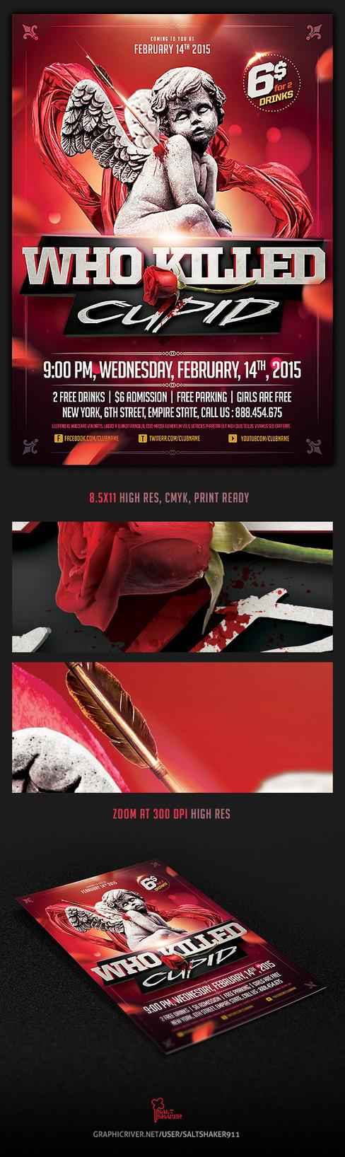 Who killed Cupid Valentines flyer by saltshaker911