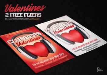 Clubbers Valentines Flyer by Saltshaker911