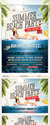 Summer Beach Party flyer template by saltshaker911