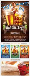 Oktoberfest Beer Festival Flyer Template by saltshaker911