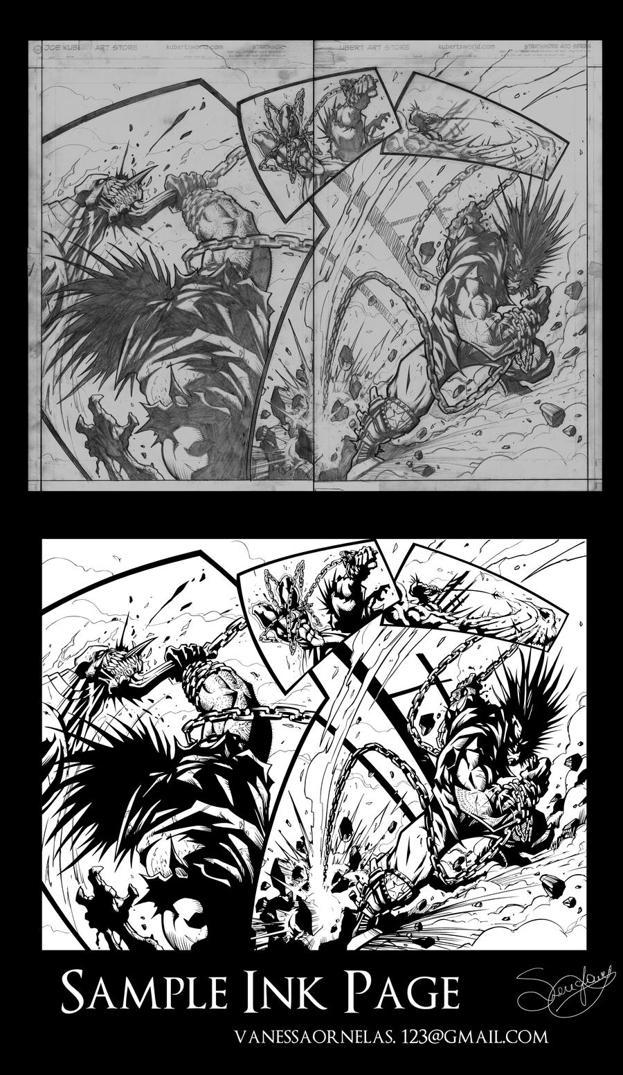 Drawing Red Lines With Green Ink : Red vs green lobo sample ink page by sereglaure on
