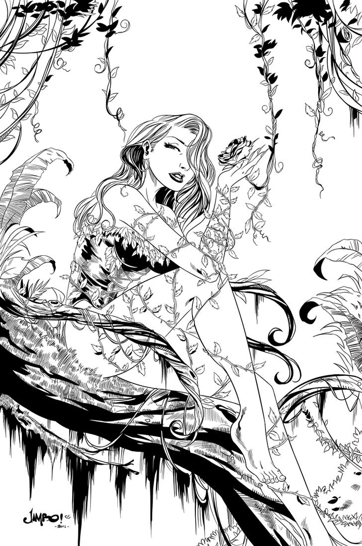 Poison Ivy Inked by Sereglaure