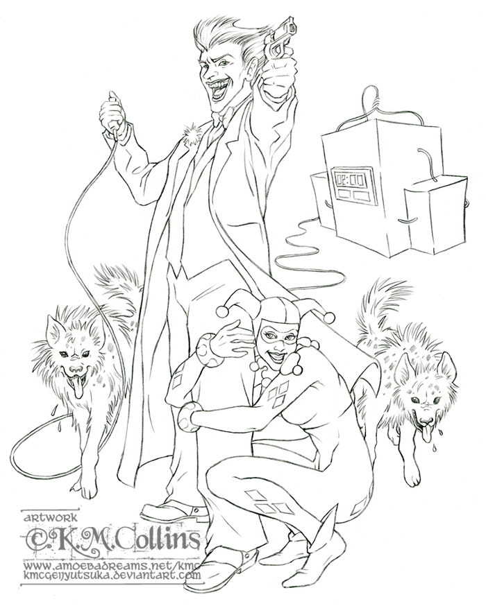 Top the joker chibi tattoo images for pinterest tattoos for Suicide squad coloring pages