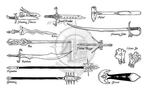 Paths of Power: Weapons Set 1