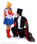 Sailor Moon and Tuxedo Kamen Cosplay